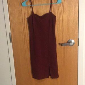 Forever 21 Knee length tight slit dress. NWOT